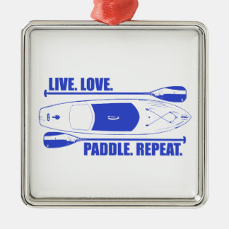 LiveLiebe-Paddel-Wiederholung Silbernes Ornament