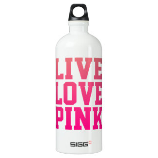 LIVELiebe-ROSA Wasserflasche