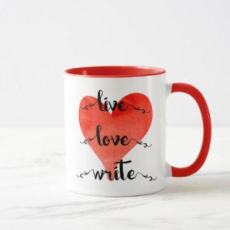 LiveLiebe schreiben Tasse