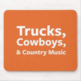LKWs, Cowboys und Countrymusik Mousepad