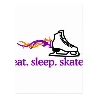 Lodernde Skate Postkarte