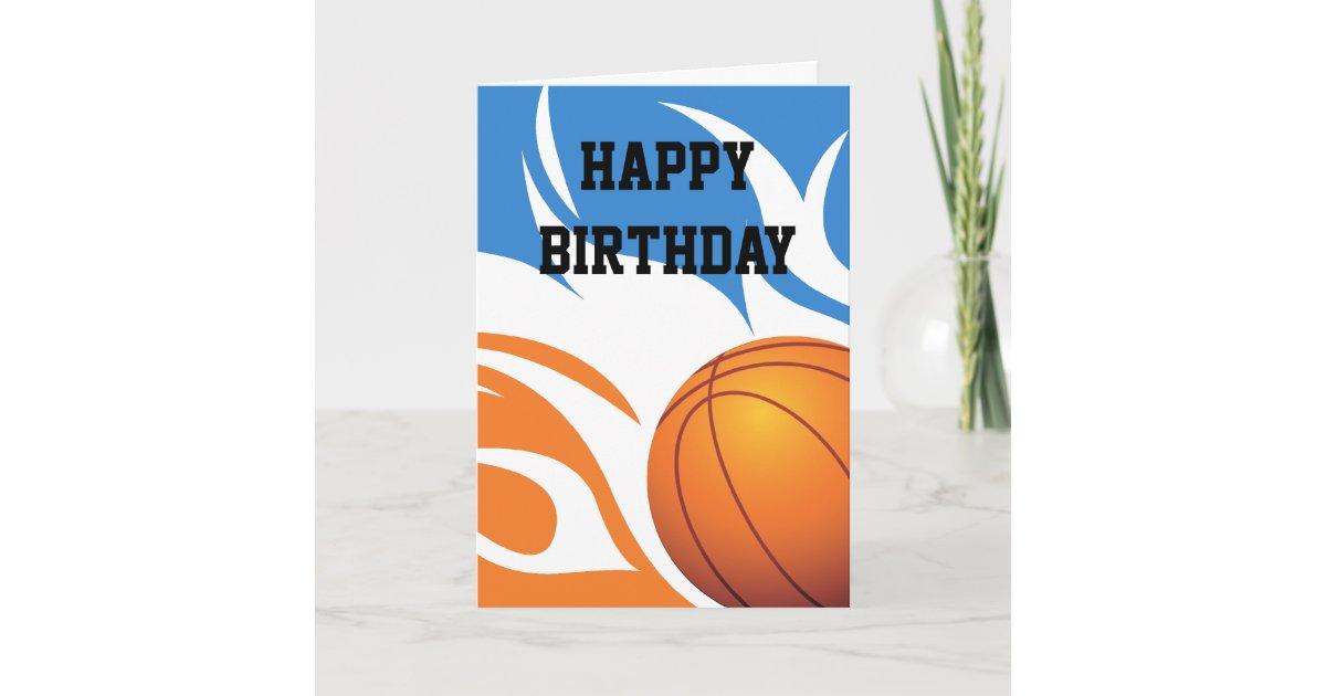 loderndes basketball blau und orange karte. Black Bedroom Furniture Sets. Home Design Ideas