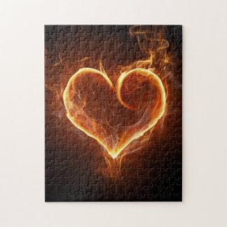 Loderndes Herz Puzzle