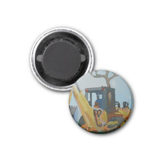 Löffelbagger Runder Magnet 3,2 Cm