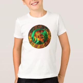 Logans lodernder spartanischer Kreis T-Shirt