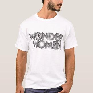 Logo 3 der Wunder-Frauen-B&W T-Shirt