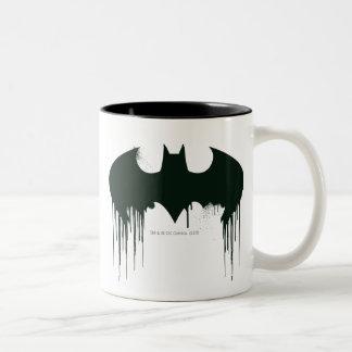 Logo Batman-Symbol-| Spraypaint Zweifarbige Tasse