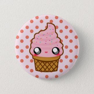 Logo der Eiscreme-KawaiiGoods.Com Runder Button 5,7 Cm
