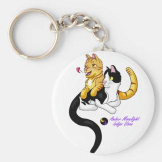 Logo der Kitty-Liebe w Schlüsselanhänger