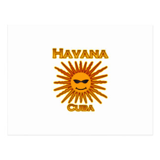 Logo Havanas Kuba Sun Postkarte