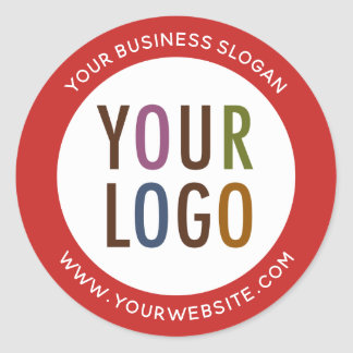 Logo Round Promotional Business Stickers Company