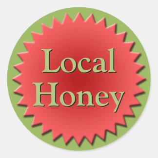 Lokale Honig-Glas-Spitze Runder Aufkleber