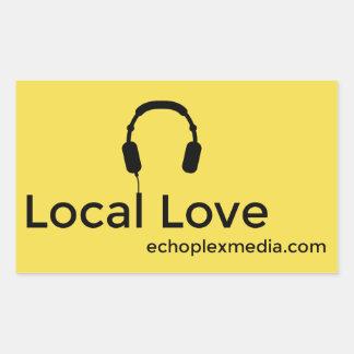 Lokale Liebe-Aufkleber! Rechteckiger Aufkleber