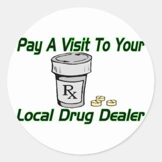 Lokaler Drogenhändler Runder Aufkleber