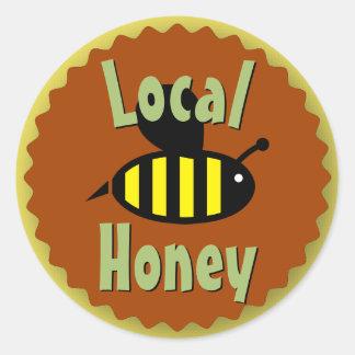 Lokales Honig-Glas besonders angefertigt Runder Aufkleber