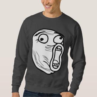LOL Lachen-heraus lautes Raserei-Gesicht Meme Sweatshirt