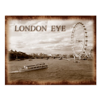London-Auge (Jahrtausend-Rad) Postkarte