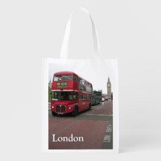 London-doppelstöckiger Bus Wiederverwendbare Einkaufstasche