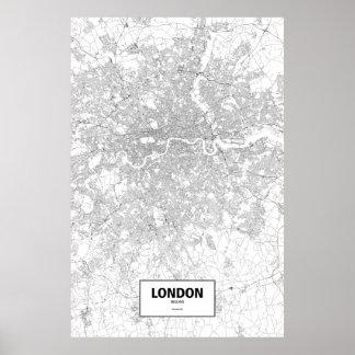 London, England (Schwarzes auf Weiß) Poster