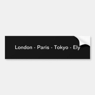 London - Paris - Tokyo - Moab Autoaufkleber