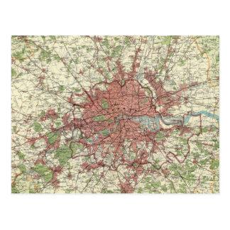 London-Regions-Karte Postkarte