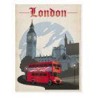 London - roter Bus Postkarte