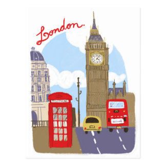 London-Szene Postkarten