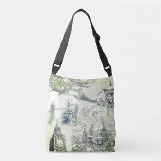 London-Taschen-Tasche - fünf Ikonen London Tragetaschen Mit Langen Trägern