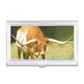 Longhorn-Vieh Visitenkarten Etui