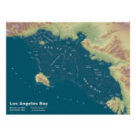 """Los Angeles-Bucht--24"""" x18 """" Poster"""