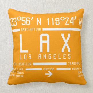 Los Angeles-Flughafen-Code Zierkissen
