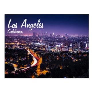Los Angeles, Kalifornien-Skyline nachts Postkarte