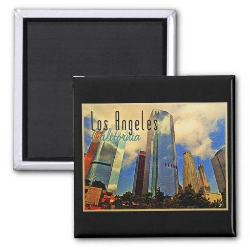 Los Angeles-Skyline Kühlschrankmagnet