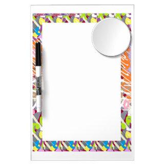 Löschen schreibt Spiegel-Blick-Anmerkungs-Spaß Whiteboards