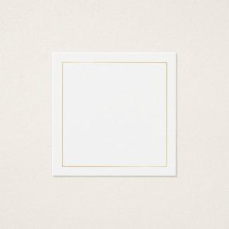 Löschen Sie mit Imitat-Goldfolien-Grenze Quadratische Visitenkarte