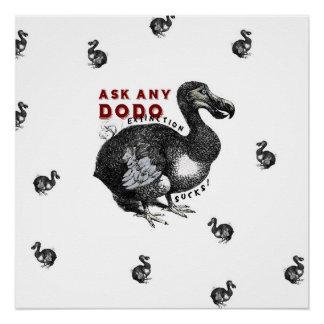 Löschungist zum Kotzen Dodo-Vogel-Entwurf #2 Poster