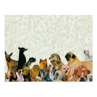 Lose des Hundecollagen-Plakats Postkarte