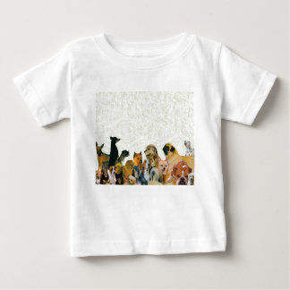 Lose Hundecollage Baby T-shirt