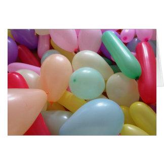 Lose und Lose Ballone: Alles- Gute zum Karte