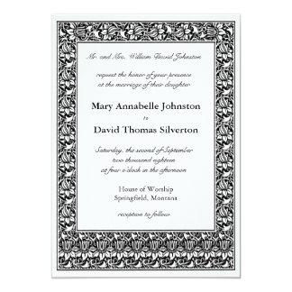 Lotos-Blumen-Eltern der Braut 12,7 X 17,8 Cm Einladungskarte
