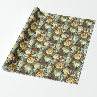 Lotos-Blumen-Kunst-Illustration Geschenkpapier
