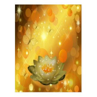 Lotos-Blumen Postkarte