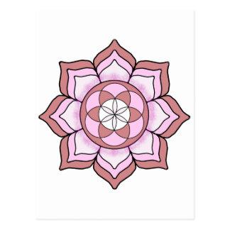 Lotos-Rose Postkarte