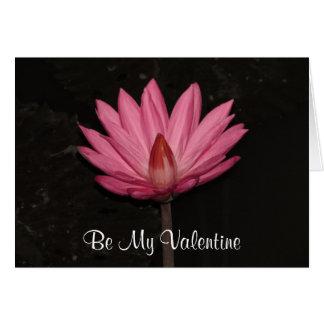Lotos-Valentinsgrüße Karte