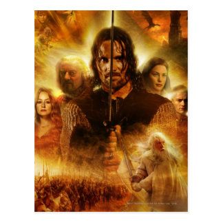 LOTR: ROTK Aragorn Film-Plakat Postkarte