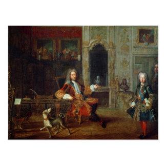 Louis XV und der Regent, Philippe II Postkarte