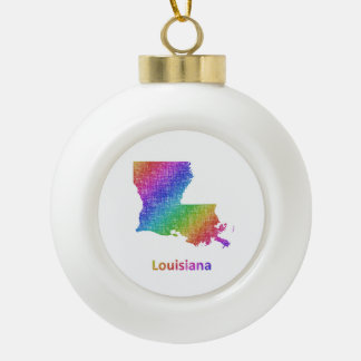 Louisiana Keramik Kugel-Ornament