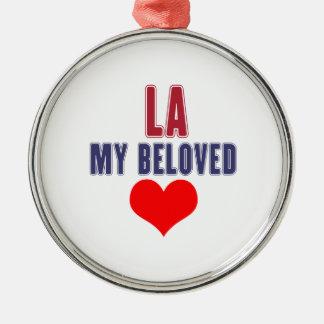 Louisiana mein geliebtes rundes silberfarbenes ornament