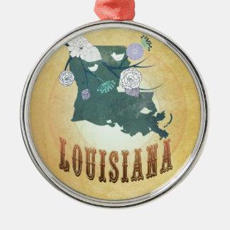 Louisiana mit reizenden Vögeln Rundes Silberfarbenes Ornament