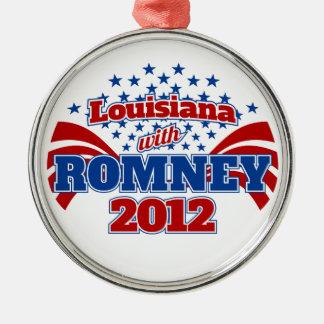 Louisiana mit Romney 2102 Rundes Silberfarbenes Ornament